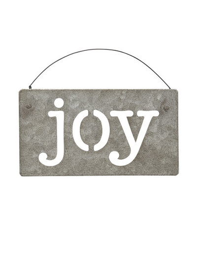 Joy Galvanized Ornament