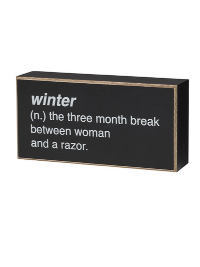 Winter Box Sign