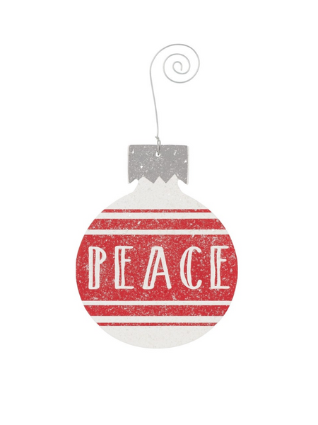 Peace Bulb Ornament-