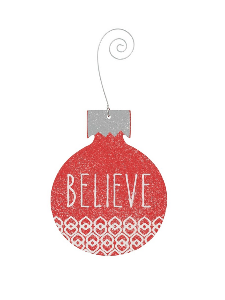 Believe Bulb Ornament-