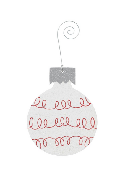 Loop Bulb Ornament- White