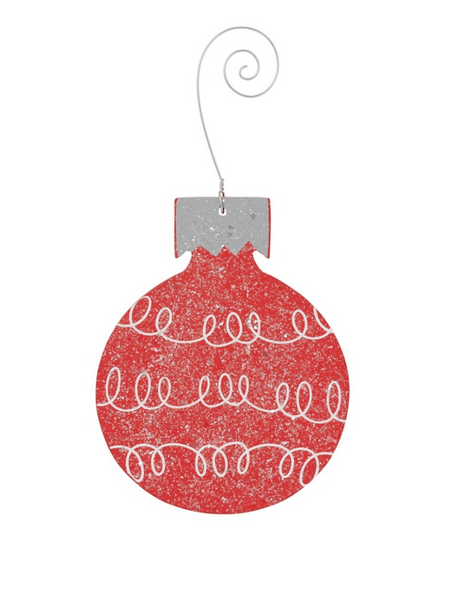 Loop Bulb Ornament- Red
