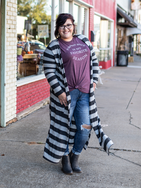 The Kaly Striped Cardigan