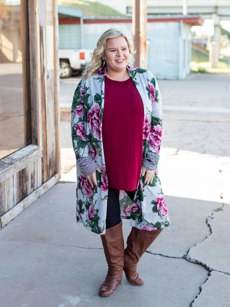 The Nora Floral Cardigan