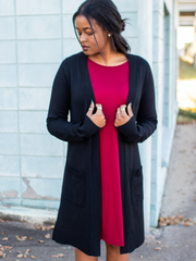 The Monroe Cardigan In Black