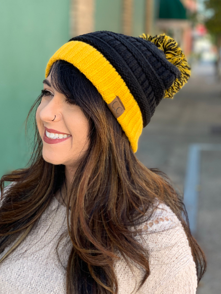 CC Beanie Gameday Collection- Black / Gold