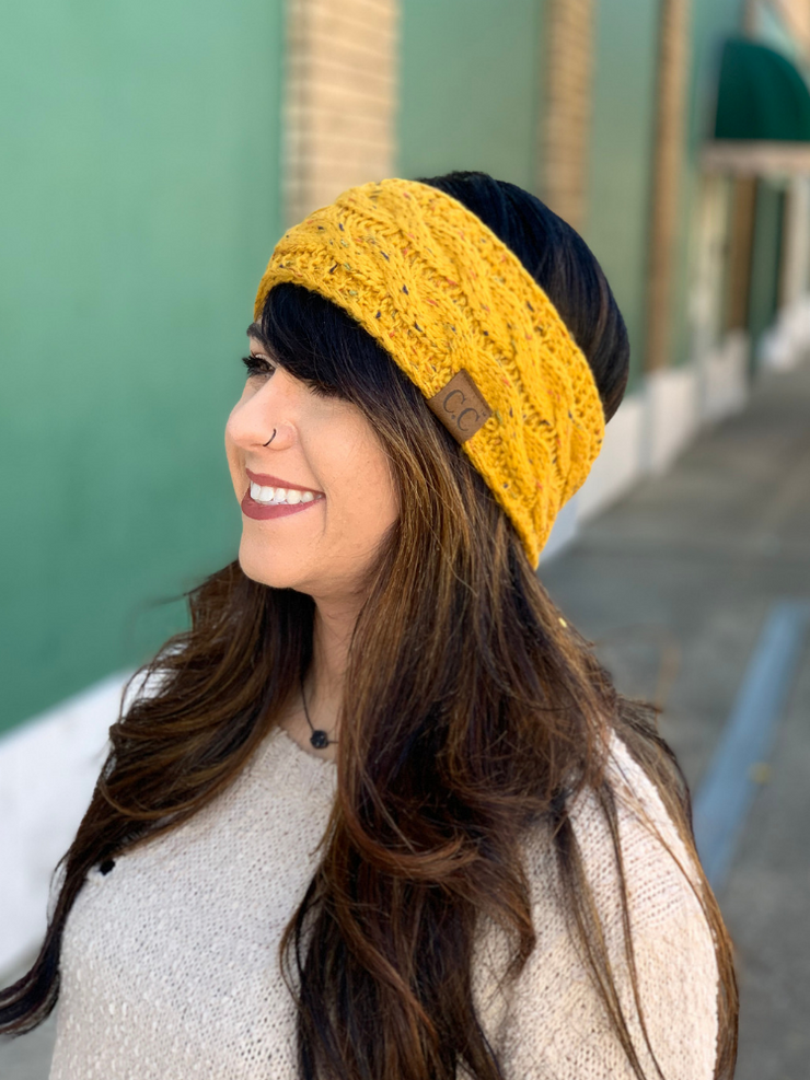 CC Headwrap Speckled - Mustard