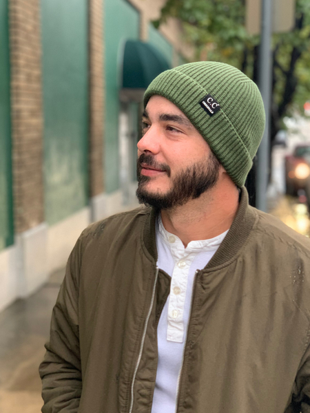 Mens CC Originals Beanie - Olive