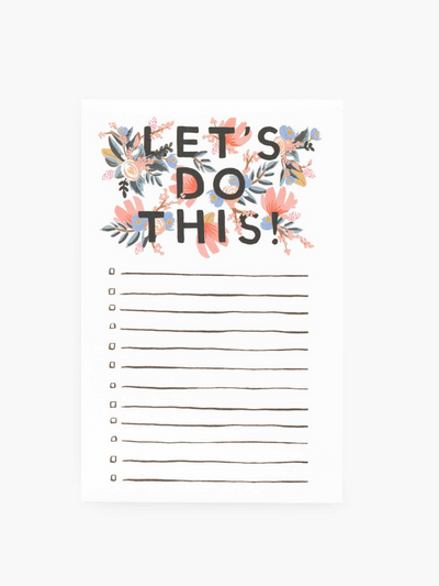 Rifle Paper Company-Lets Do This Notepad
