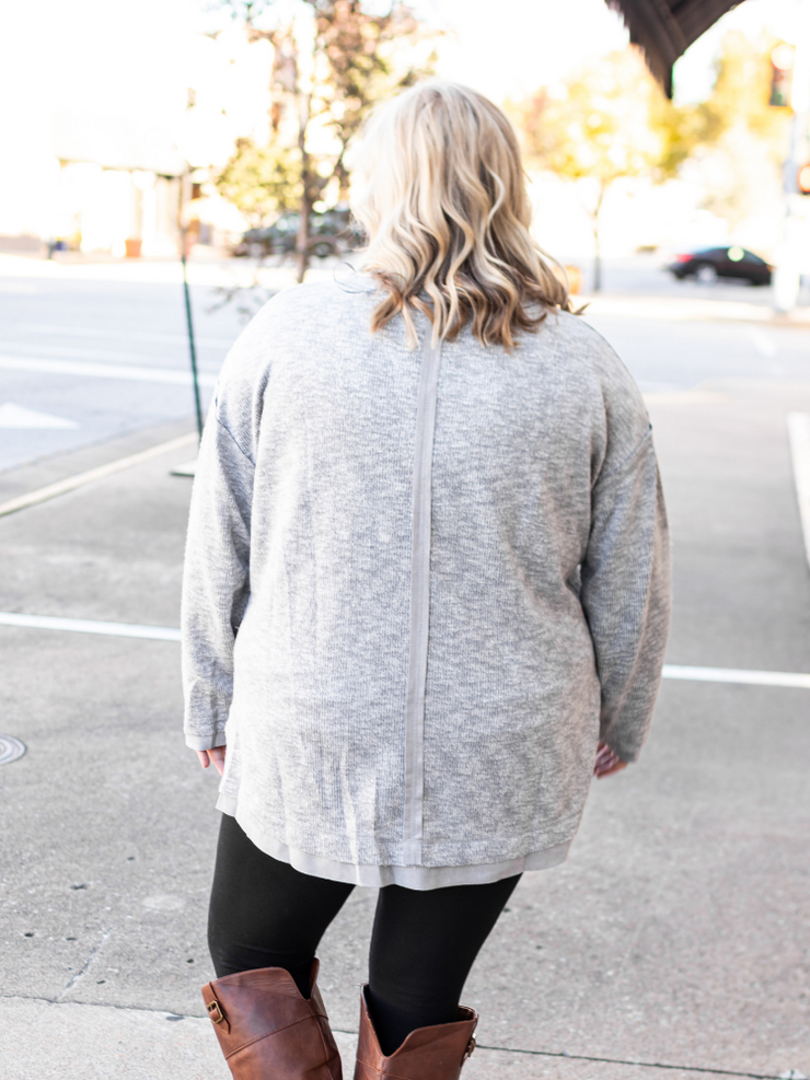 The Everly Top in Grey