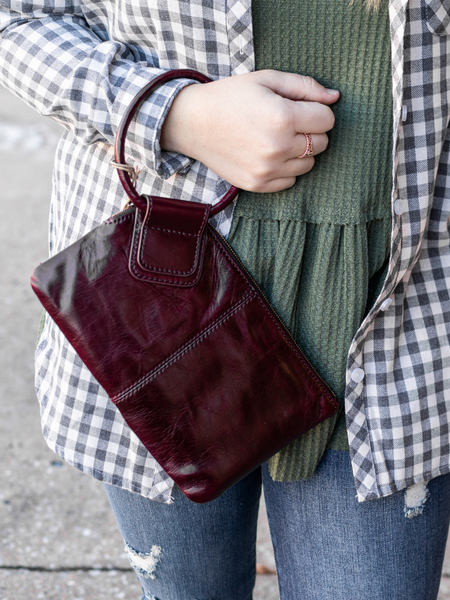HOBO The Original Sable Wristlet- Dark Plum