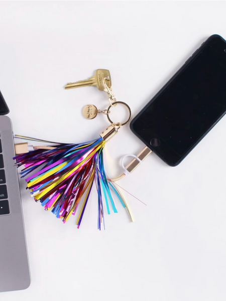 STREAM BIG CHARGING CORD KEYCHAIN