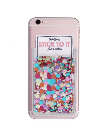STICK TO IT MULTI CONFETTI PHONE WALLET