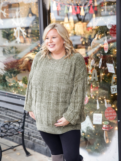 The Seasonal Spirit Sweater In Olive
