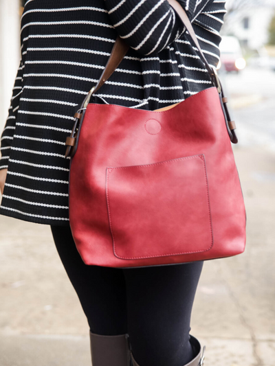 Classic Hobo Handbag- Adore Red