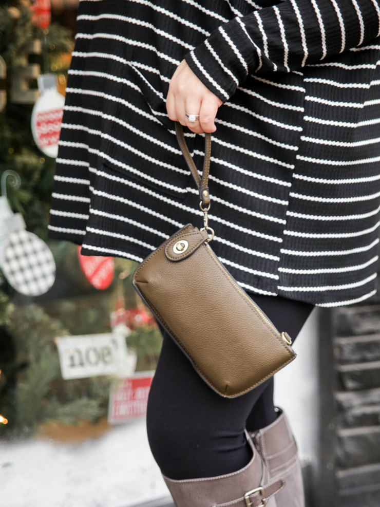 Mini Crossbody & Wristlet- Apple