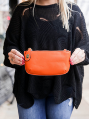 Mini Crossbody & Wristlet- Orange