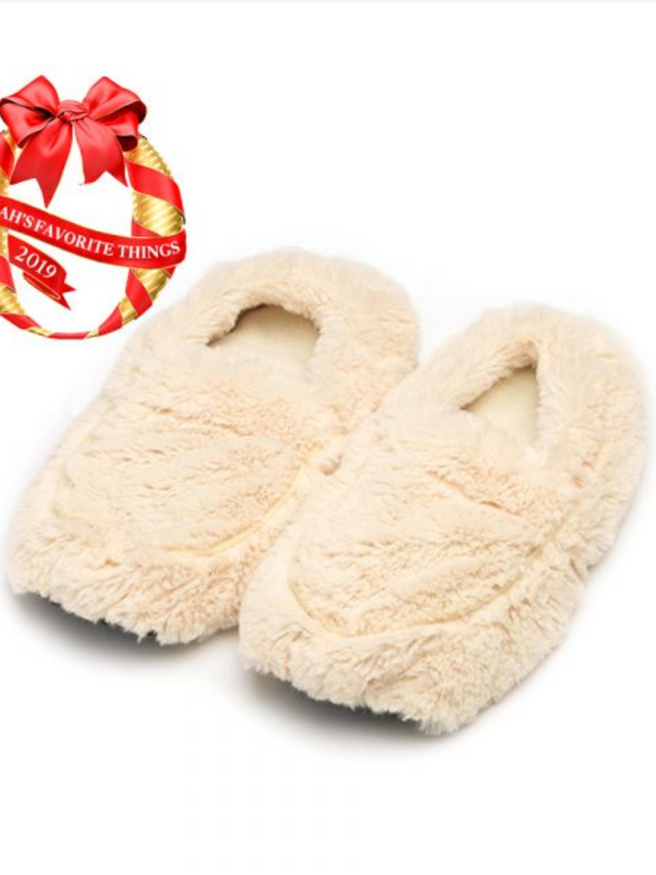 Warmies Slippers- Cream