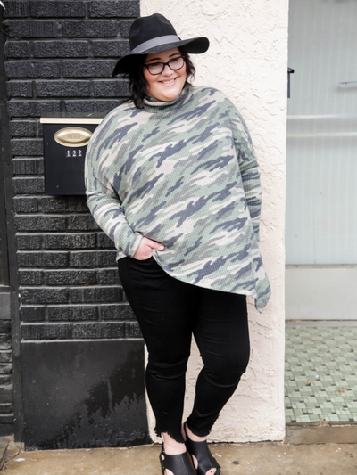 Weekend Together Camo Poncho
