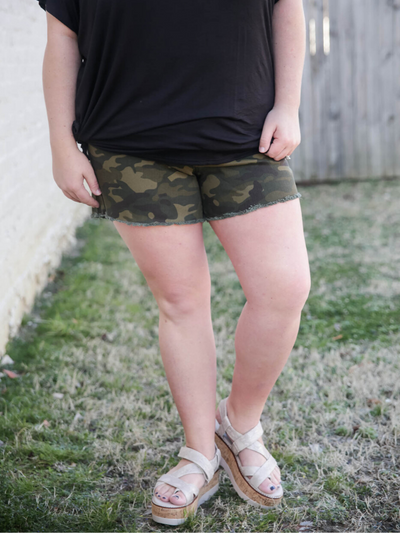 The Molly Camo Shorts