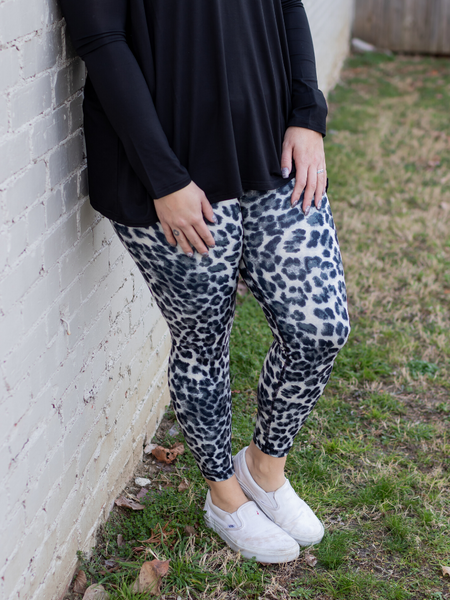 Leopard Legging - Black