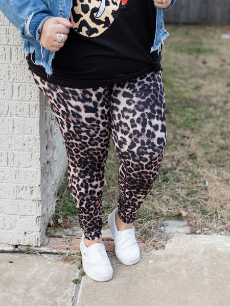 Leopard Legging - Brown