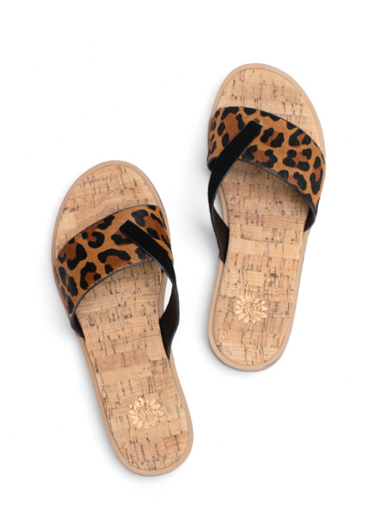 The Baran Sandal in Leopard