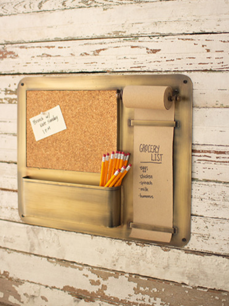 Hanging Note Roll w/ Cork Board