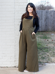 No Time To Waste Overalls In Olive