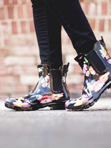 The Chelsea Roma Boot-Black Floral