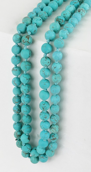 Long Large Beaded Necklace