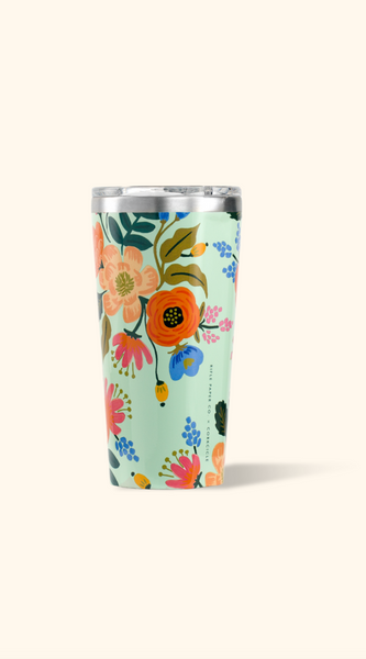 Corkcicle- 16oz Rifle Paper Tumbler- Gloss Mint