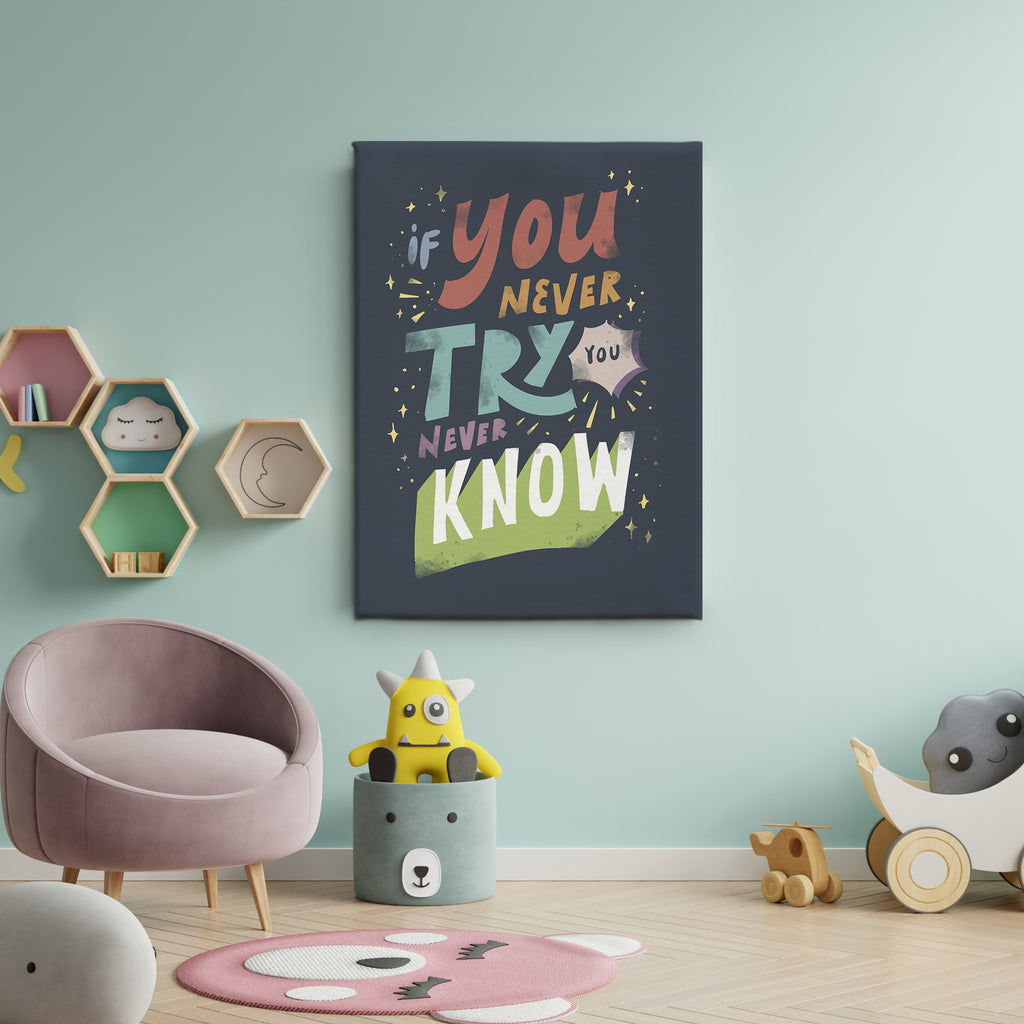 Kids Art - You Never Try You Never Know 3