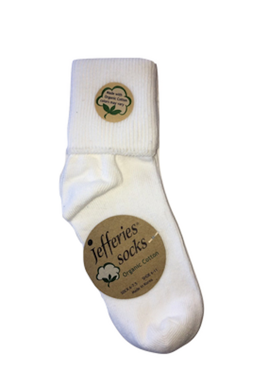 Organic Cotton Turn Cuff Sock
