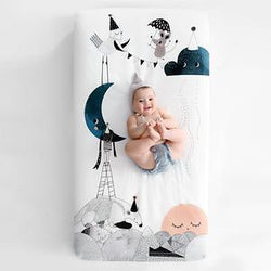 The Moons Birthday Cotton Sateen Crib Sheet