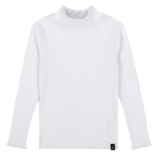 White Rib Turtle Neck