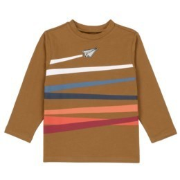 Brown Jersey T w Stripes