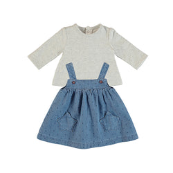 Blue Denim Pinafore & T-shirt