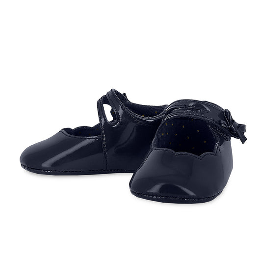 Midnight Leather Mary Jane Shoes