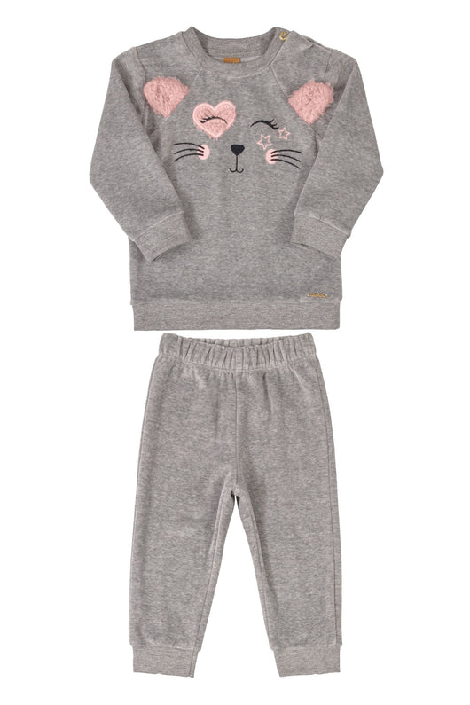 Smiley Mouse Sweatshirt and Pants Set