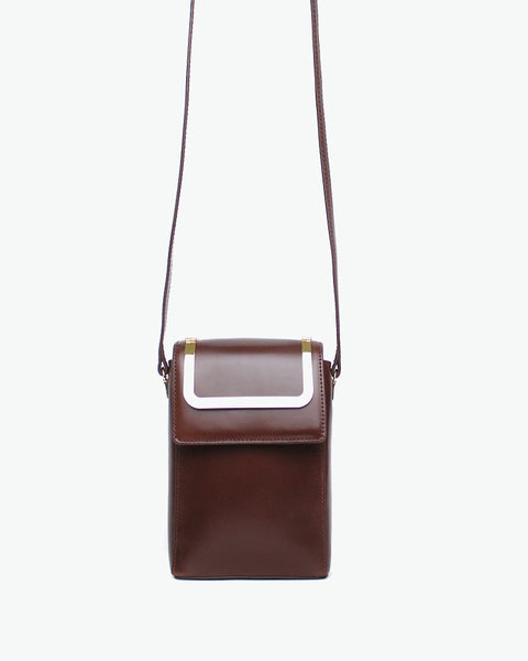 Mini Handy Bag - Brown
