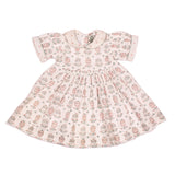 Collared Cotton Dress - Pink and Blue Balloons