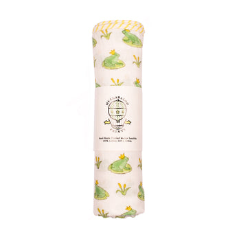 Large Swaddle - Frog Prince - Green