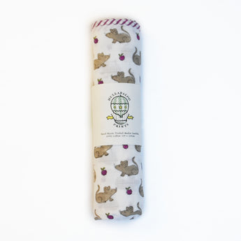 Large Swaddle - Mouse and Blackberry