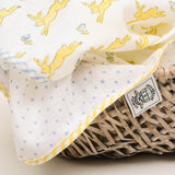 Pack of 2 Muslins - Hares & Bluebells - Yellow