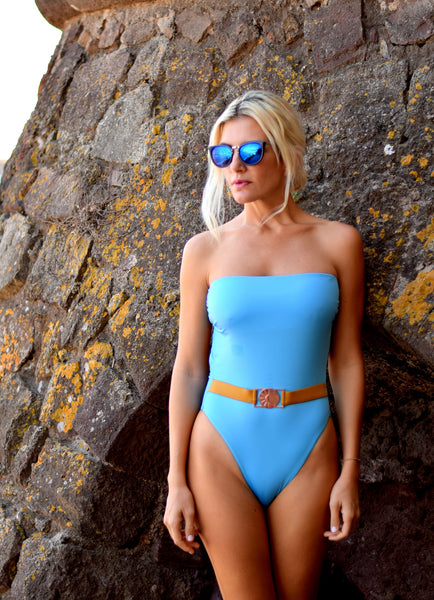 Freeze The Breeze Blue One-piece swimsuit ,exclusive collection
