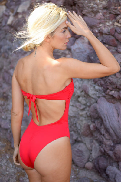 Freeze The Breeze Red One-piece swimsuit ,exclusive collection