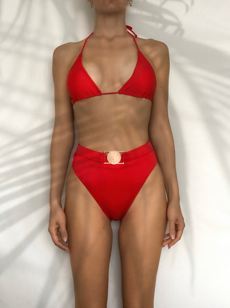 Red breeze bikini set