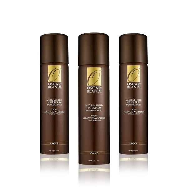 Lacca Medium Hold Hairspray 3-pack