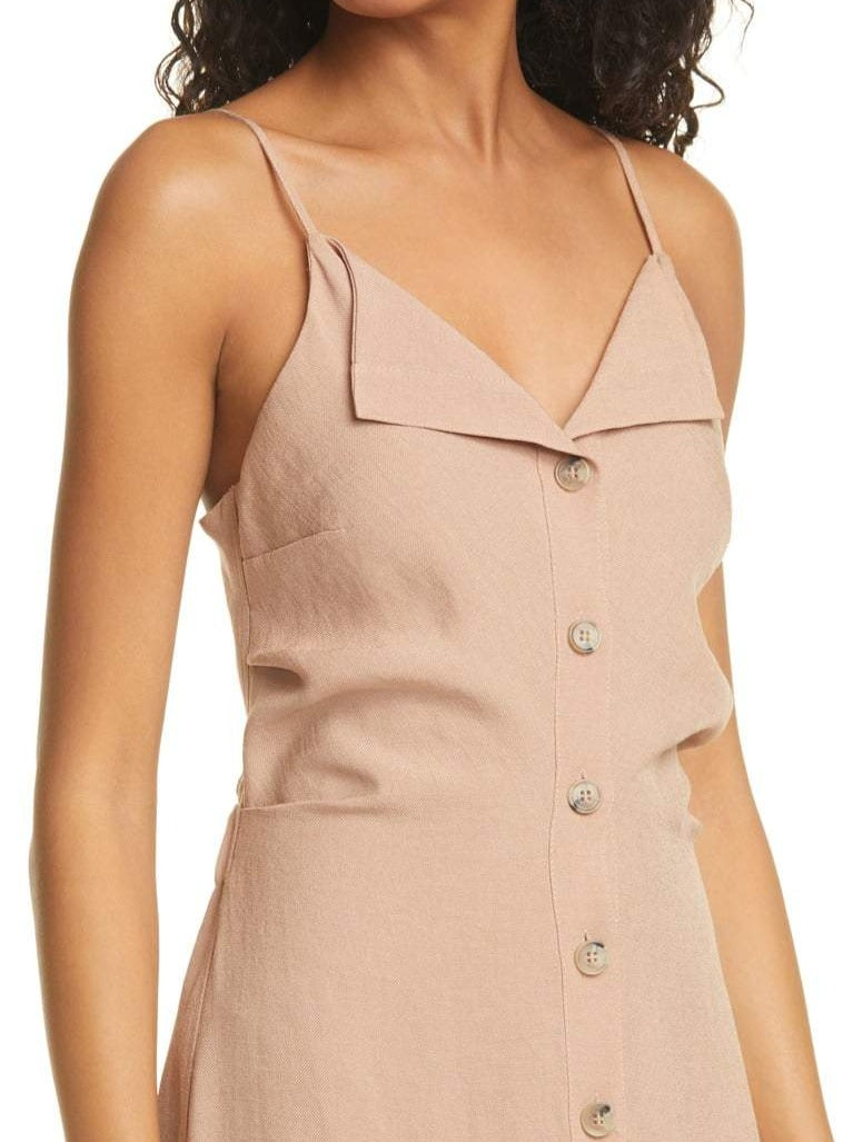 PAZ FITTED MIDI CAMISOLE DRESS
